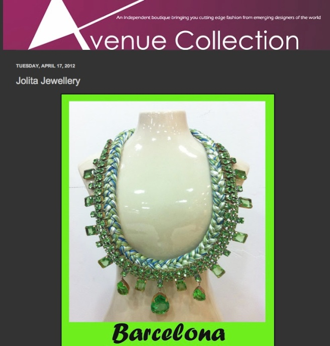 Jolita Jewellery at Avenue Collection