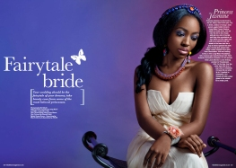 Black Hair Magazine, April/May 2014 issue - Fairytale Bride Editorial - in Jolita Jewels