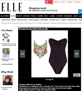 Colourful statement necklace - Carnival by Jolita Jewellery as featured in Elle.fr