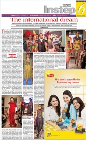 Fashion Parade event for Save The Children Charity, featured in Instep. Jolita Jewellery pieces showcased with Nomi Ansari designs on the catwalk.