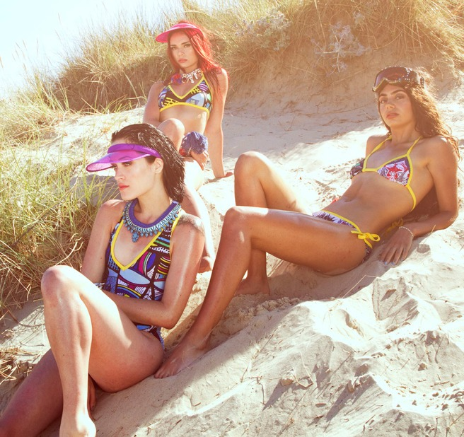 Life's a beach editorial for Seen In The City magazine, featuring Jolita Jewellery's braided necklaces and braided cuff