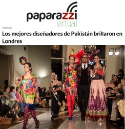 Fashion Parade event for Save The Children Charity, featured in Paparazzi. Jolita Jewellery pieces showcased with Nomi Ansari designs on the catwalk.