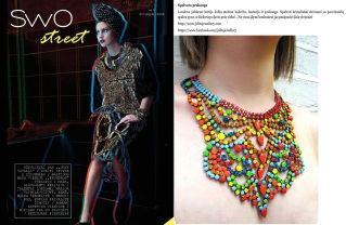 "Jolita feature as a ""colourful luxury"" in a Lithuanian fashion magazine SWO"