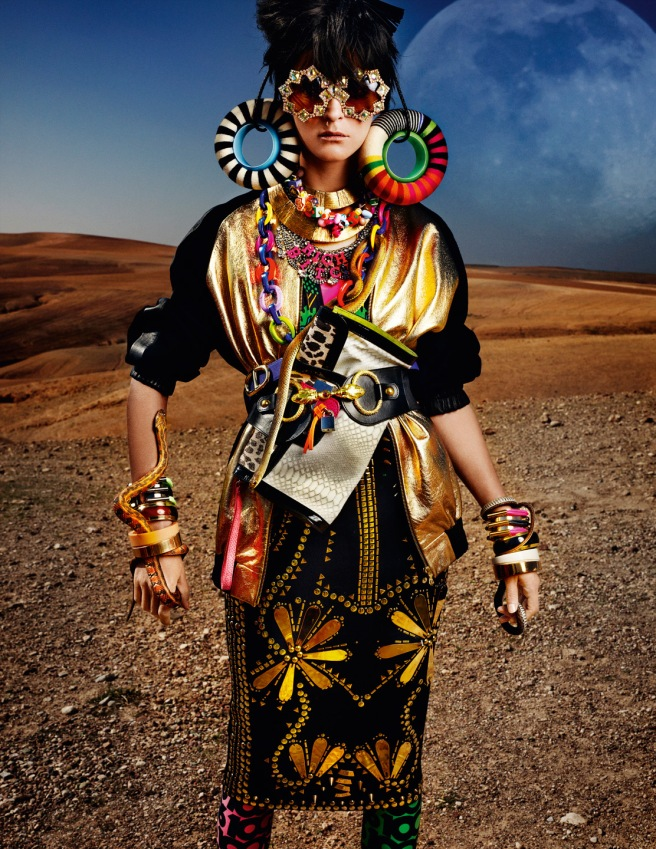 Carmen Kass by Mario Testino (High Plains Drifter - Vogue UK May 2012)