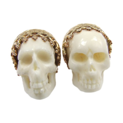 White Skull studs by Jolita Jewellery