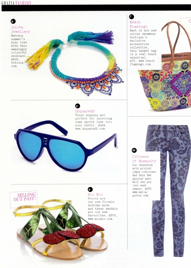 Grazia 12.06.12 Jolita Jewellery Malaga necklace