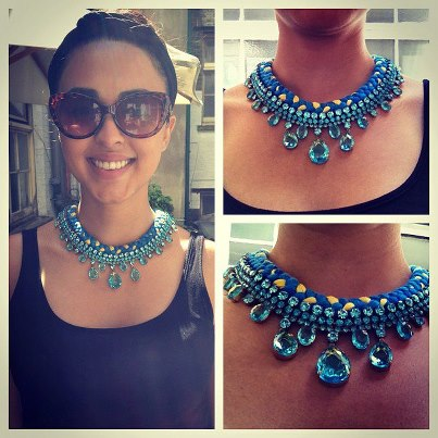 Sophia in Capri necklace by Jolita Jewellery