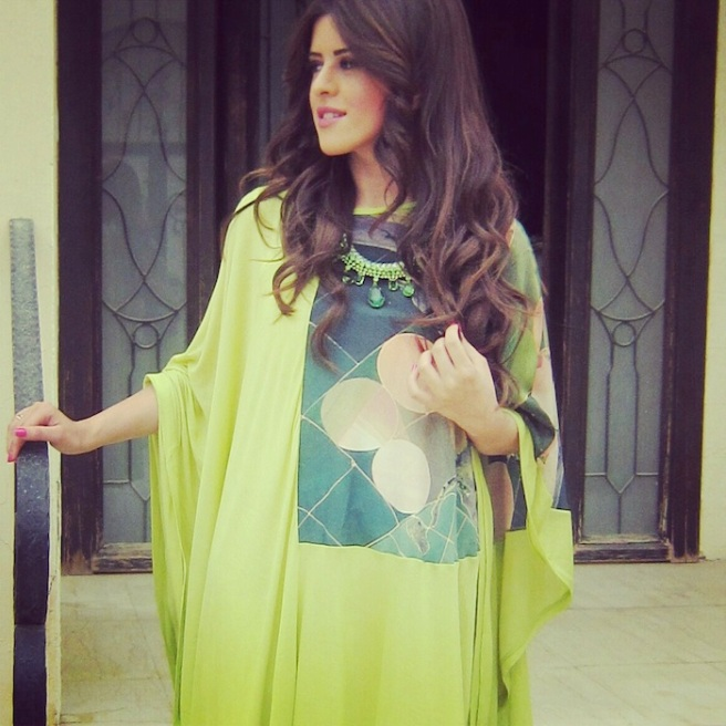 Noor Al Shaikh in Barcelona necklace