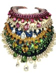 Colourful statement necklaces by Jolita Jewellery layered together