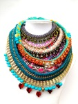 Colourful statement necklace by Jolita Jewellery