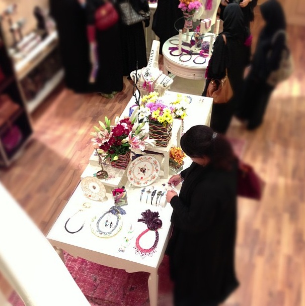 Customers shopping during Jolita Jewellery event at Dadu boutique