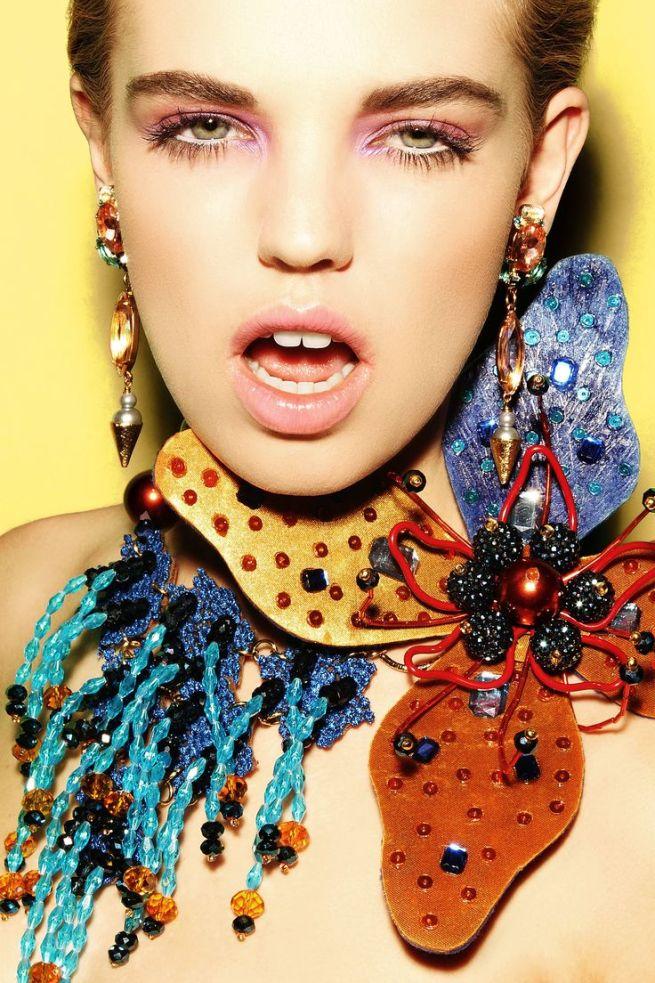 Pink Debutante crystal earrings by Jolita Jewellery