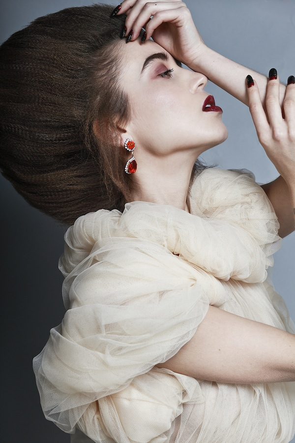 Shoot for Exalt magazine - Jolita earrings