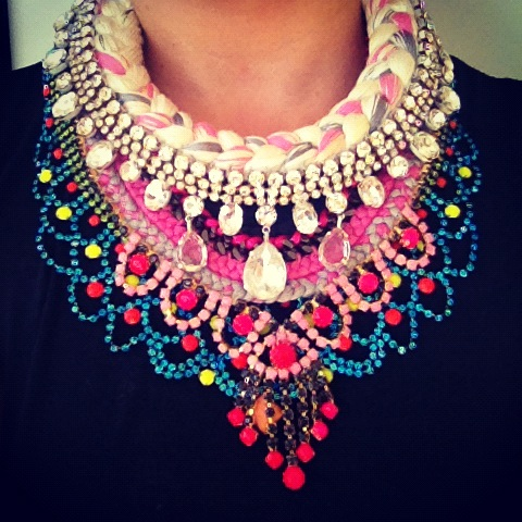 Layering up colourful statement necklaces by Jolita Jewellery