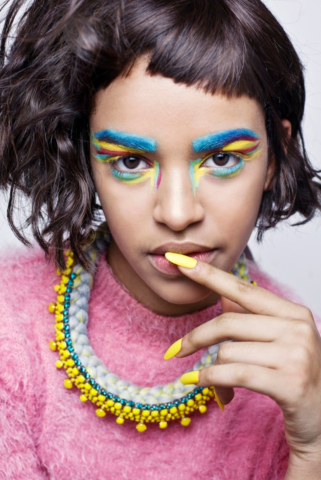 From recent colourful shoot - in Turin necklace by Jolita Jewellery