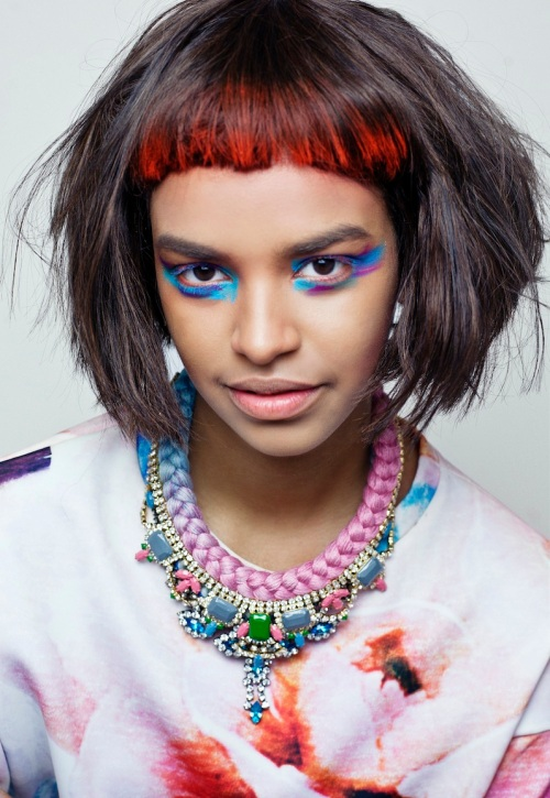 From recent colourful shoot - in Salzburg necklace by Jolita Jewellery