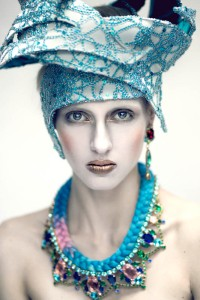 From shoot for All Hollow magazine - In Debutante skull earrings and St.Tropez necklace, all by Jolita Jewellery