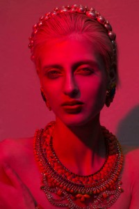 From shoot for All Hollow magazine - In Madrid earrings and Alexandria necklace by Jolita Jewellery