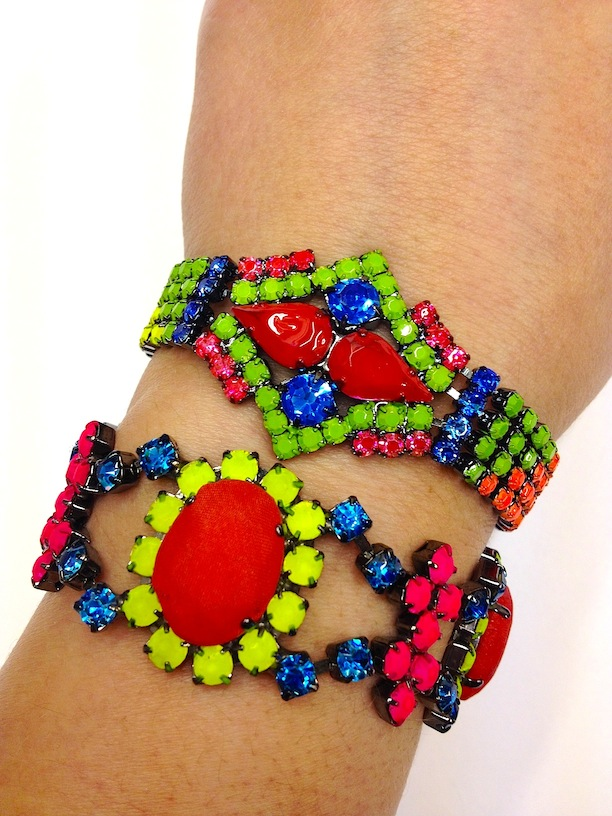 Colourful Hand-painted Bracelets