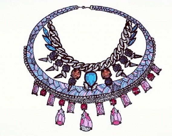 Prague necklace - More is Love illustration