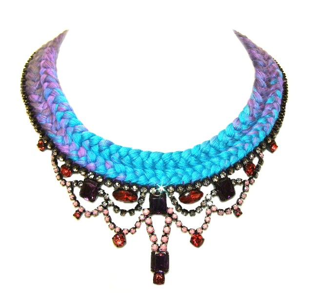 A colourful statement necklace
