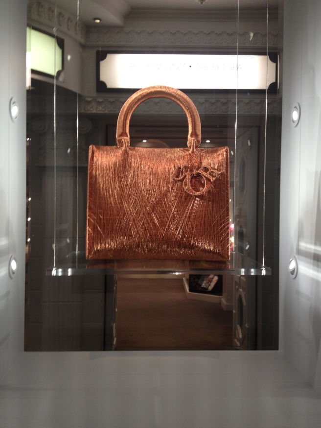 Dior Exhibition 10 - Alice Anderson studio, copper thread bag