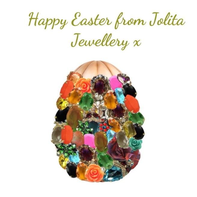 Easter Egg full of colourful Jolita Jewellery treats