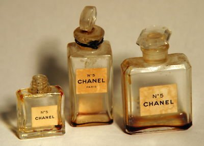 Vintage Chanel No 5 mini perfume bottles