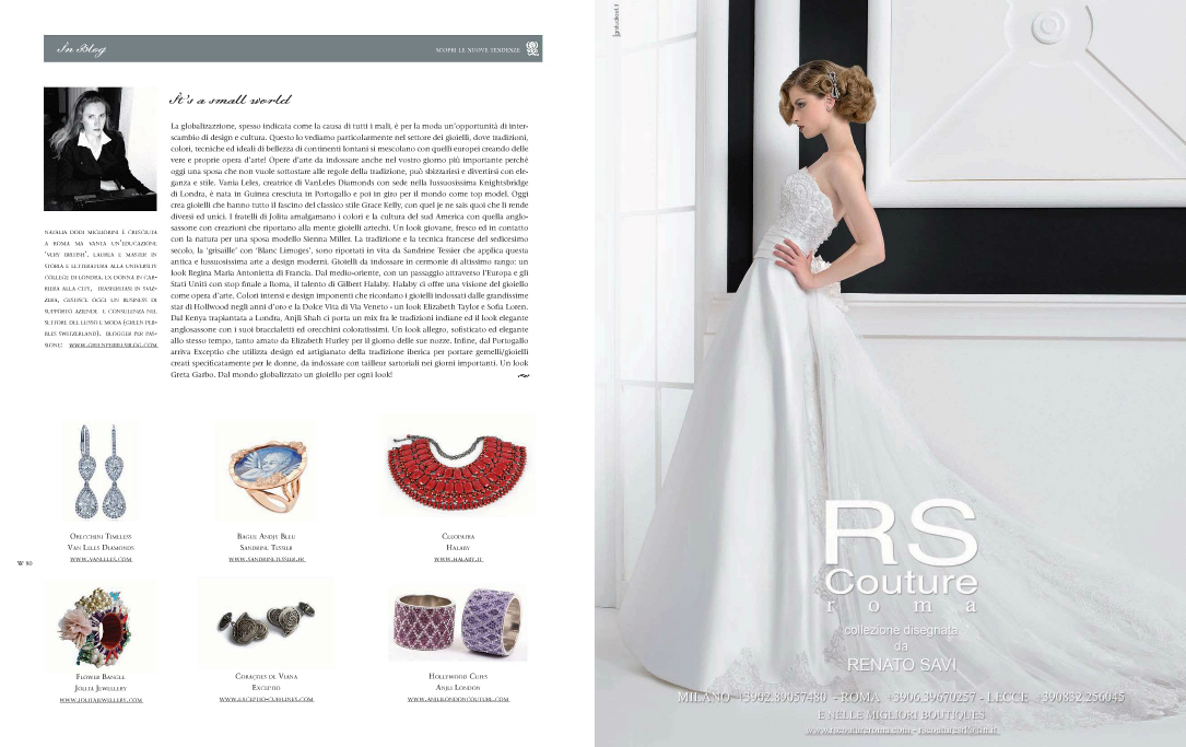 2e96f3baaee6 ... Jolita Jewellery statement bangle made with new and reclaimed  components was featured in Italian luxury bridal ...