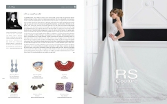 Jolita Jewellery statement bangle made with new and reclaimed components was featured in Italian luxury bridal magazine's White Sposa January issue 2013