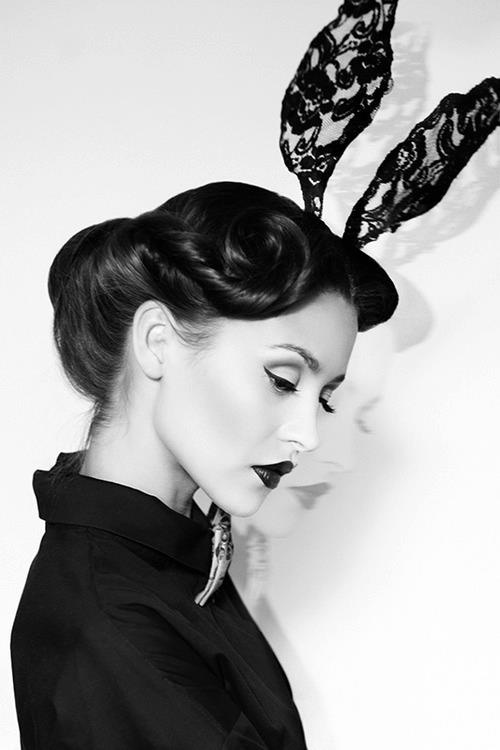 Beautiful high fashion Easter Bunny