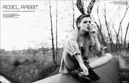 Beautiful high fashion Easter Bunny