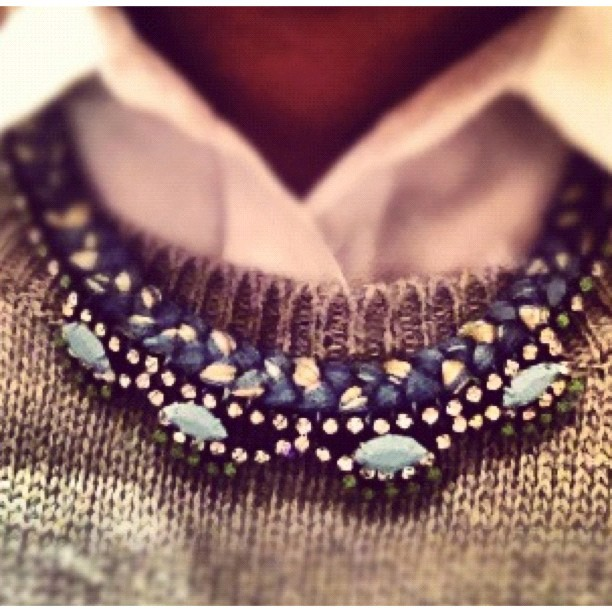 Happy customer in Oslo blue  necklace