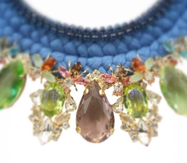 A sneaky preview of the upcoming luxury bespoke statement necklace