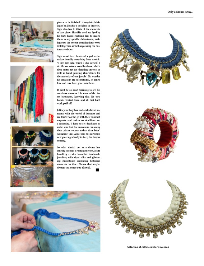 Jolita Jewellery Interview in Exalt magazine