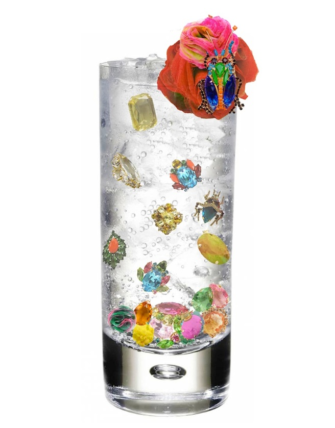 A refreshing glass of luxury lemonade, made with components from Jolita Jewellery designs.
