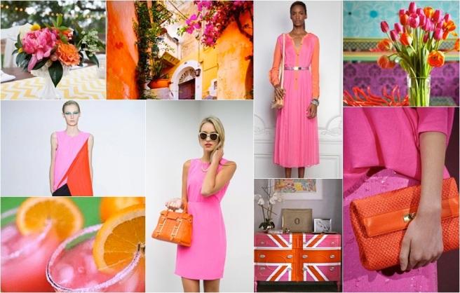 Bright Orange Pink moodboard