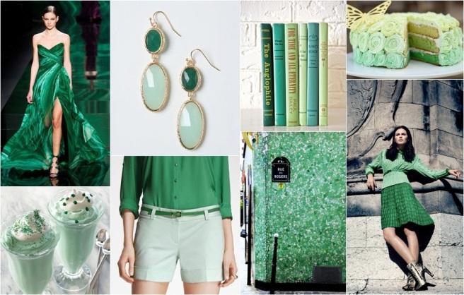 Mint Sea green moodboard