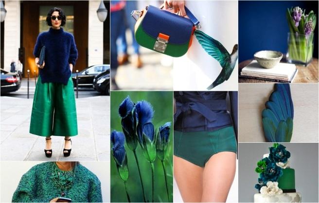 Oxford blue Sea green moodboard