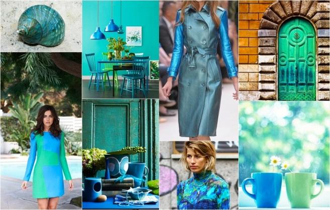 Paris Green True Blue moodboard