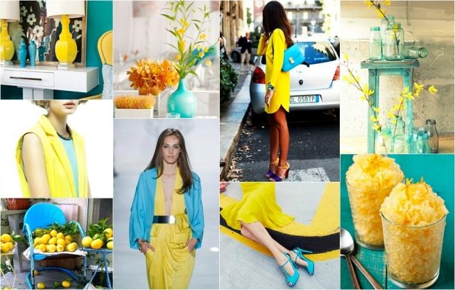 Yellow Turquoise moodboard