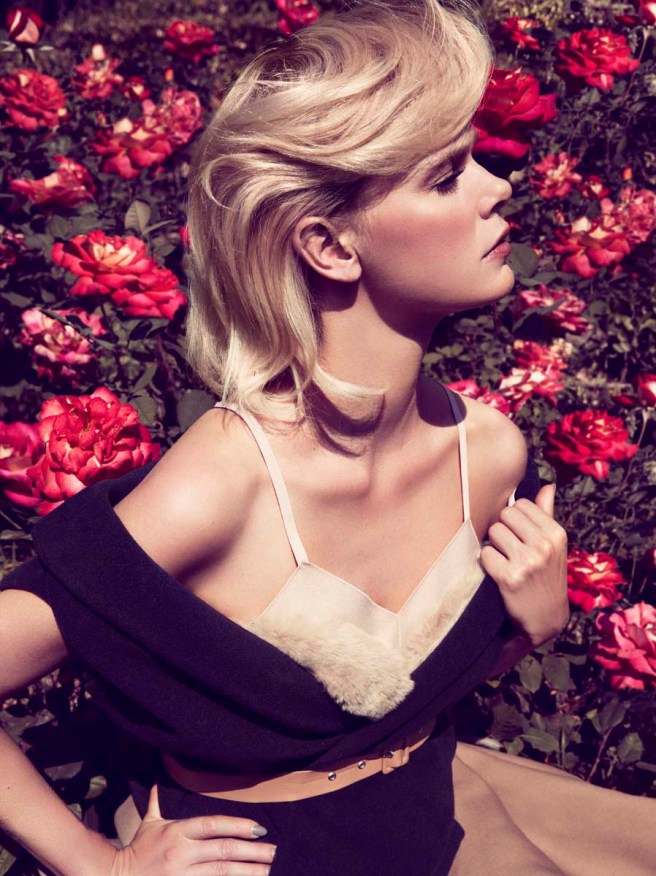 Dewi-Driegen-for-Glamour-Italia-August-2013-Girl-Roses