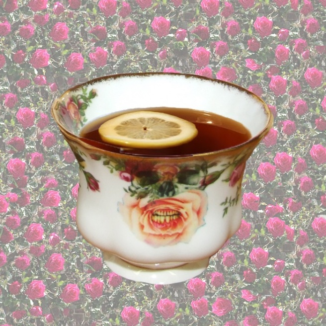 This up-cycled vintage cup is is from Jolita Jewellery's Object Trouve collection. It is decorated with our signatory skull and rose and can be kept as an object of art, although fully functional.