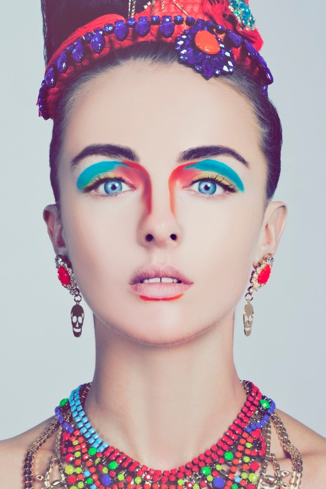 Beauty shoot - Tangier and Salvador necklaces, Skull earrings, Madeira and Braided cuff styled as headpieces 2