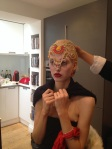 From the recent beauty shoot: trying on Tangier statement necklace by Jolita Jewellery as a headpiece