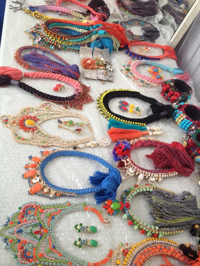 From recent beauty shoot - all Jolita Jewellery pieces are laid out and ready