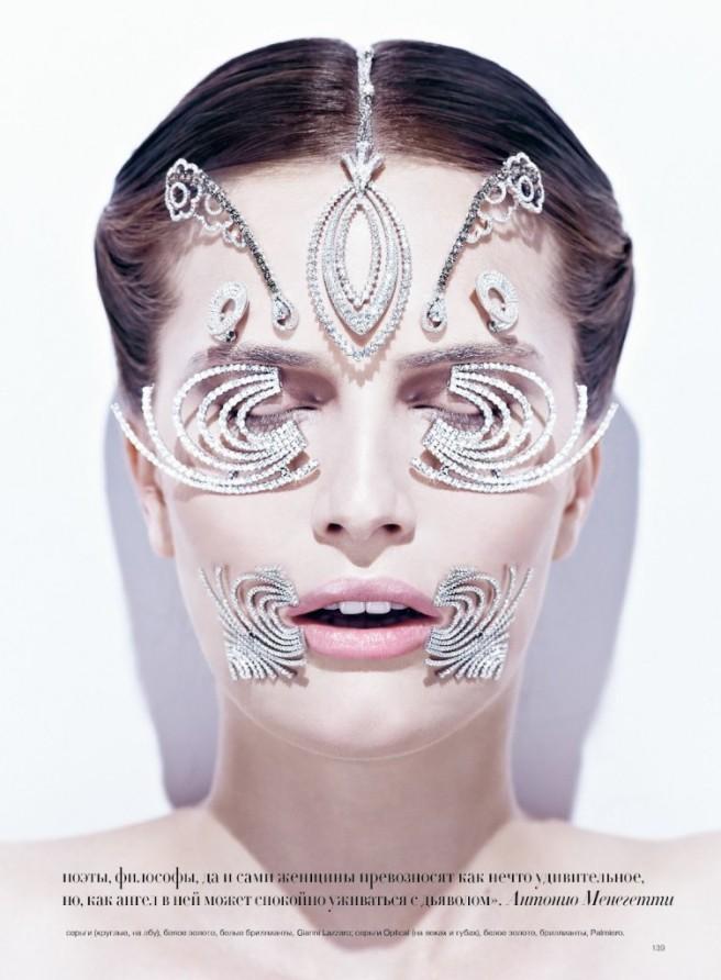 Beauty and Jewellery Ed in Harpers Bazaar Ukraine September 2012
