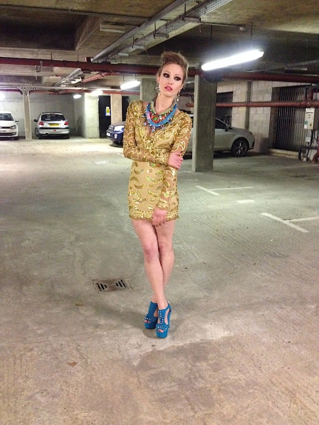 Look 3 - Inge in our necklaces and Socialite earrings 1