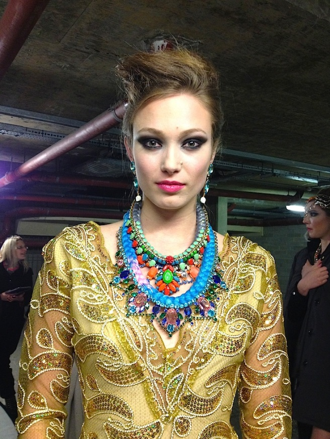 Look 3 - Inge in our necklaces and Socialite earrings 2