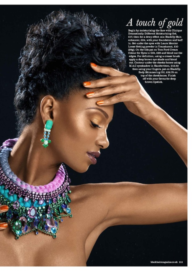 Black Hair Magazine, Sultry Siren editorial with Jolita Jewellery pieces